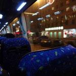 バスでホテルへ
