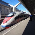 サプサン号という新幹線でモスクワへ