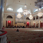 サンクトペテルブルク・フィルハーモニー大ホールでゲネプロ。