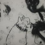 Biografische Collage , Kopie auf Transparentpapier, Mischtechnik, Foto, Zeichnung,...