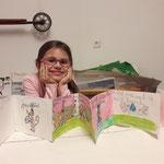 Klara Pulpanova , Kids, 2018 mit ihrem Buch in tschechischer Sprache