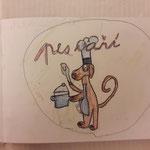 aus Klaras  Buch über den Hund , der kocht...