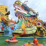 Der Wasser- und Freizeitpark Dam Sen ausserhalb von Saigon