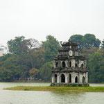 Der Schildkrötenturm im Hoàn-Kiêm-See