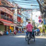 Die Pham Ngu Lao Straße im Herzen von Ho-Chi-Minh-Stadt