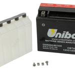 Unibat Wartungsfrei CBTX24HL-BS (12 V 21 AH) (82400), Maße in mm :(LxBxH) 205x87x161, Gewicht : 7,5 kg, Batterieleistung im kalten Zustand(CCA): 350