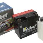 Unibat Wartungsfrei CBTX5L-BS (12 V 4 AH) (50412), Maße in mm :(LxBxH) 114x71x106, Gewicht : 1,6 kg, Batterieleistung im kalten Zustand(CCA): 70