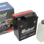 Unibat Wartungsfrei CBTX7L-BS (12 V 6 AH) (50614), Maße in mm :(LxBxH) 114x71x131, Gewicht : 2,3 kg, Batterieleistung im kalten Zustand(CCA): 85