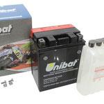 Unibat Wartungsfrei CBTX14AH-BS (12 V 12 AH), Maße in mm :(LxBxH) 134x89x166, Gewicht : 3,61 kg, Batterieleistung im kalten Zustand(CCA): 210