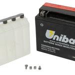 Unibat Wartungsfrei CBTX18L-BS (12 V 18 AH), Maße in mm :(LxBxH) 205x87x162, Gewicht : 5,3 kg, Batterieleistung im kalten Zustand(CCA): 280