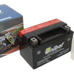 Unibat Wartungsfrei CBTX7A-BS (12 V 6 AH) (50615), Maße in mm :(LxBxH) 150x87x94, Gewicht : 2,4 kg, Batterieleistung im kalten Zustand(CCA): 90