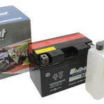 Unibat Wartungsfrei CT12A-BS (12 V 10 AH) (51012), Maße in mm :(LxBxH) 150x87x105, Gewicht : 3,5 kg, Batterieleistung im kalten Zustand(CCA): 175