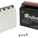 Unibat Wartungsfrei CBTX20-BS (12 V 18 AH) (82002), Maße in mm :(LxBxH) 175x87x155, Gewicht : 6,4 kg, Batterieleistung im kalten Zustand(CCA): 270