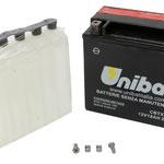 Unibat Wartungsfrei CBTX20L-BS (12 V 18 AH) (82000), Maße in mm :(LxBxH) 175x87x155, Gewicht : 5,1 kg, Batterieleistung im kalten Zustand(CCA): 270