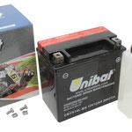 Unibat Wartungsfrei CBTX14L-BS (12 V 12 AH) (51214), Maße in mm :(LxBxH) 150x87x145, Gewicht : 3,8 kg, Batterieleistung im kalten Zustand(CCA): 200