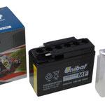 Unibat Wartungsfrei CTR4A-BS (12 V 2,3 AH) (50415), Maße in mm :(LxBxH) 114x49x86, Gewicht : 0,9 kg, Batterieleistung im kalten Zustand(CCA): 45