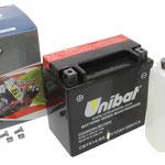Unibat Wartungsfrei CBTX14-BS (12 V 12 AH) (51214), Maße in mm :(LxBxH) 150x87x145, Gewicht : 3,8 kg, Batterieleistung im kalten Zustand(CCA): 200