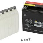 Unibat Wartungsfrei CT12B-BS (12 V 11 AH) (51015), Maße in mm :(LxBxH) 150x65x93, Gewicht : 2,3 kg, Batterieleistung im kalten Zustand(CCA): 85