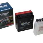Unibat Wartungsfrei CB5LB-BS (12V 5 AH), Maße in mm :(LxBxH) 120x60x130, Gewicht : 1,88 kg, Batterieleistung im kalten Zustand(CCA): 75