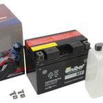 Unibat Wartungsfrei CTZ12S-BS (12 V 11 AH) (51120), Maße in mm :(LxBxH) 150x87x110, Gewicht : 2,8 kg, Batterieleistung im kalten Zustand(CCA): 190