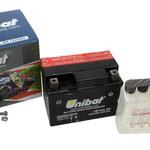 Unibat Wartungsfrei CBTX4L-BS 12 V 3 AH (50314), Maße in mm :(LxBxH) 114x71x86, Gewicht : 1,6 kg, Batterieleistung im kalten Zustand(CCA): 50