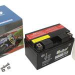 Unibat Wartungsfrei CTZ10S-BS (12 V 8,6 AH) (50615), Maße in mm :(LxBxH) 150x87x93, Gewicht : 2,8 kg, Batterieleistung im kalten Zustand(CCA): 190