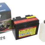 Unibat Wartungsfrei CTZ14S-BS (12 V 11,2 AH) (51101), Maße in mm :(LxBxH) 150x87x110, Gewicht : 3,1 kg, Batterieleistung im kalten Zustand(CCA): 230
