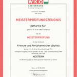 Meisterprüfungszeugnis - Friseure und Perückenmacher, 02. Juni 2014