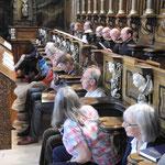 Feierliche Vesper im oberen Chor