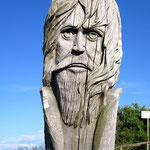 Alter Slawe auf Kap Arkona, wo vor mehr als 1000 Jahren eine Slawensiedlung stand.