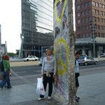 Mauerrest von 1989 am Potsdamer Platz.