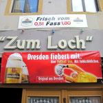 Während der Fußball-EM: Dresdner Bier im Meißner Loch.