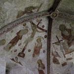 ... und gotischen Fresken.