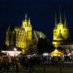 Höhepunkt Erfurt: Eindrucksvolles Ensemble aus Dom und Severinskirche.
