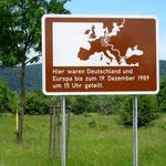 Gedenktafel an ein geteiltes Europa.