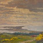 Blick über Hiddensee von Nord Richtung Süd, gemalt von einer Hiddenseer Impressionistin.