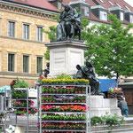 Rückert-Denkmal in Schweinfurt.