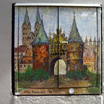 ... und als Malerei an einer Hausmauer.