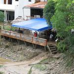 die Bar nach dem Hochwasser