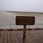 Tiefster Punkt im Death Valley
