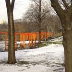 Der Central Park wird verhüllt