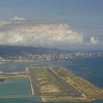 Anflug auf Oahu/Honolulu