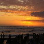Sonnenuntergang am Waikiki Beach