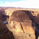 Horse Shoe Bend - berühmtester Verlauf des Colorado