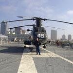 an Deck der USS Midway