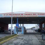 Grenzübergang Chile-Argentinien in die argentinische Provinz Feuerland.