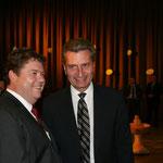 Ministerpräsident G.H.Oettinger und Geburtstagskind