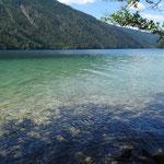 der Blick auf den See