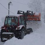 In der Nacht und heute starker Schneefall