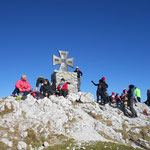 heute waren viele Leute am Gipfel